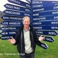 Which way round the world sir? Jerry Bridge