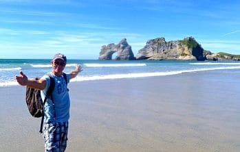 jerry-bridge-wharariki beach. Classic holidays to New Zealand