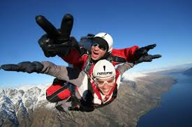 Holidays to New Zealand - Sky diving over Queenstown