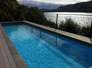 View of pool & Lake Taupo from the Point Villas