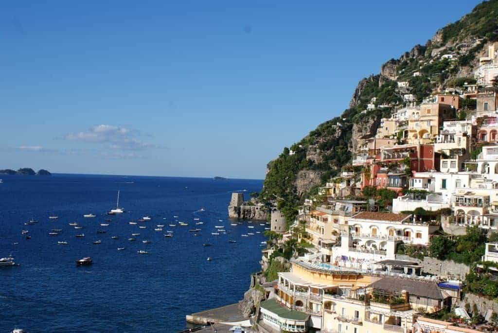Classic view of Positano on the Amalfi coast