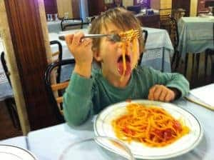 Nothing like spaghetti at the local