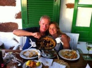 Classic paella time in Lanzarote