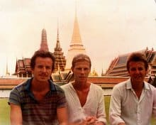 The 3 brothers outside the Imperial Palace - Bangkok 1982